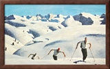 The Ascent of the Skiers (landscape) Posters by Alfons Walde