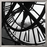 Orsay Clock Framed Giclee Print by Tom Artin