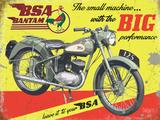 BSA Bantam Big Performance Plaque en métal