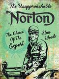 Norton - Stan Woods Plaque en métal