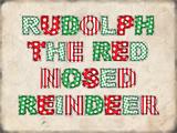 Rudolph the Red Nosed Reindeer - Landscape Blikskilt
