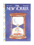 The New Yorker Cover - December 31, 1973 Regular Giclee Print by Lee Lorenz