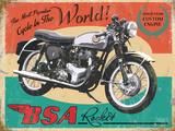 BSA Rocket The Most Popular Bike in the World Plaque en métal