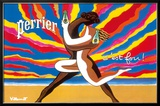 Perrier - The Dancing Couple (Le Couple Dansant) - This is Crazy! (C'est Fou!) Framed Giclee Print by Bernard Villemot