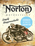 Norton Simply Unapprochable Plaque en métal