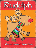 Rudolph the Red Nosed Reindeer - Picture Blikskilt