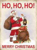Ho Ho Ho Merry Christmas - Metal Tabela