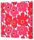 Marimekko®  Mini-Unikko Fabric Panel - Red 15x15 Stretched Fabric Panel