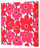 Marimekko®  Mini-Unikko Fabric Panel - Red 15x15 Stretched Fabric Panel