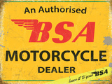BSA Authorised Dealer Plaque en métal