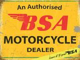 BSA Authorised Dealer Tin Sign