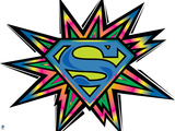DC Superman Comics: Superman Black Light Comics Poster