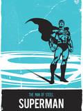 DC Superman Comics: Reel Time Print