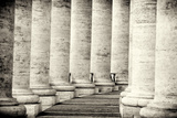 Colonnade in Rome Black and White Vatican City Photographic Print by  stefano pellicciari