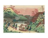 Poem by Sarumaru Dayû Kunstdrucke von Katsushika Hokusai