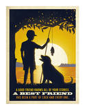 Boy and Dog Posters