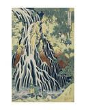 The Falling Mist Waterfall at Mount Kurokami in Shimotsuke Province Posters af Katsushika Hokusai