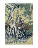 The Falling Mist Waterfall at Mount Kurokami in Shimotsuke Province Poster von Katsushika Hokusai