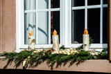 Homemade Christmas Candles Making from Birch Wood Photographic Print by  bonzodog