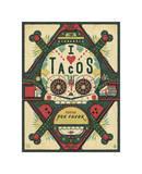 I Love Tacos Giclee Print