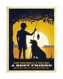 Boy and Dog Print