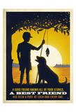 Junge and Dog Kunstdrucke von  Anderson Design Group