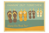 Flip Flops Hangin Out Print by  Anderson Design Group