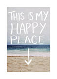 This Is My Happy Place (Beach) Giclee Print by Leah Flores