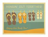 Flip Flops Hangin Out Giclee Print