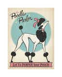 Poodle Parlor Giclee Print
