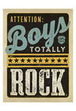 Boys Rock Prints by  Anderson Design Group