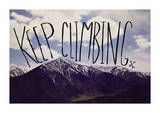 Keep Climbing Giclee Print by Leah Flores