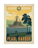 Navy Pearl Harbor Poster by  Anderson Design Group