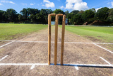 Cricket Wickets Field Photographic Print by  ChrisVanLennepPhoto