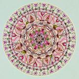 Colorful Mandala Design Reproduction giclée Premium par  shotsstudio