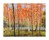 Forest Glow Giclee Print by Jean Cauthen