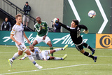 MLS: Los Angeles Galaxy at Portland Timbers Prints by Jaime Valdez
