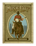 Music City Horse Giclee Print
