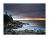 Misty Coastline Giclee Print by Michael Hudson