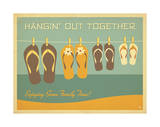 Flip Flops Hangin Out Giclee Print