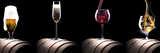 Alcohol Drinks Set Isolated on a Black Reprodukcja zdjęcia autor boule1301