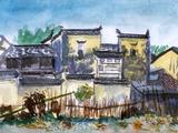 China Jiangxi Village Watercolor Posters by  jim80