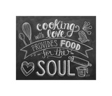 Cooking With Love Provides Food For The Soul Giclee Print by  L.A. Pop Art