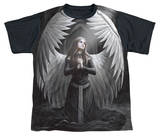 Anne Stokes - Prayer For The Fallen Black Back T-shirts