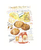 Chocolate Chip Cookies Recipe Giclee Print by Lucile Prache