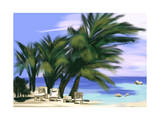 Hand Draw Coconut Tree at Beach Prints by  jim80