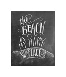 The Beach Is My Happy Place Giclee Print