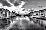 Timeless River Panorama in Florence - Italy Photographic Print by  DavidArts