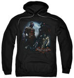 Hoodie: Batman: Arkham Knight - Face Off Pullover Hoodie
