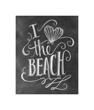 I Love The Beach Giclee Print